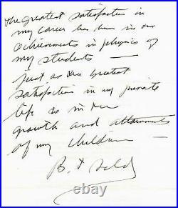 RARE! The Manhattan Project Bernard Feld Hand Written Letter Todd Mueller COA