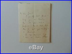 RARE! Translator of Plato Benjamin Jowett Hand Written 2 Page Letter Todd Muel