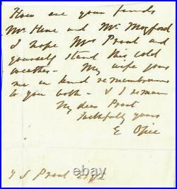 RARE! Tuberculosis Eugene Lindsay Opie Hand Written Letter Todd Mueller COA