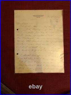 REDUCED! President Franklin D Roosevelt handwritten Autograph signed letter FDR