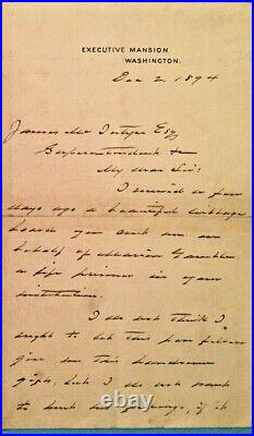 REDUCED! President Grover Cleveland Signed 1894 Handwritten Letter Autographed