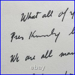 ROBERT F. KENNEDY JSA Handwritten Letter Signed As Attorney General Re JFK