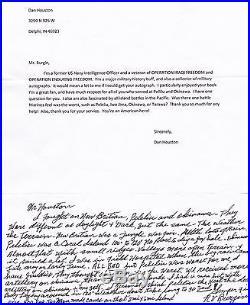 RV Burgin, USMC-Hand written letter, ALS-The Pacific, Fascinating, Unique