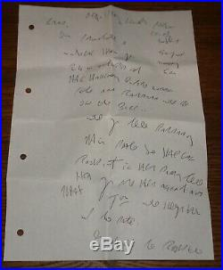R Kray 2-page 4-sided Handwritten Signed Letter And 1989 Stamp Dated Envelope