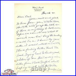 Rabbit Maranville Signed Autographed Handwritten Letter HOF
