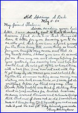 Rare Lakota Chief Henry Standing Bear 1874-1953 Hand Written Letter with Envelope