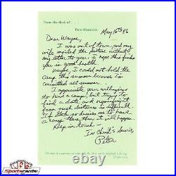 Rare Pistol Pete Maravich Signed Handwritten Autograph Letter HOFer BAS JSA LOA