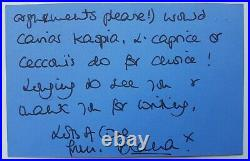 Rare Princess Diana Autograph Hand Written Sigend Letter Royalty Signature 1994