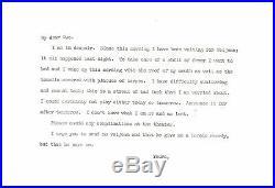 Rare Sarah Bernhardt Handwritten Letter Historical Document Signed