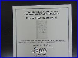 Reaping Machine Inventor Edward S. Renwick Hand Written Letter Mueller COA