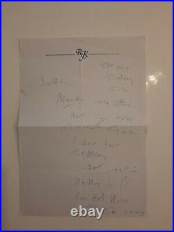 Reggie Kray hand written letter on personalised stationary COA