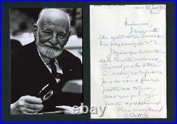 Rene Cassin NOBEL PRIZE autograph, handwritten letter signed