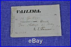 Robert Louis Stevenson 1892 handwritten letter, delivery instructions & Photo