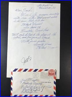 Roberto Clemente Signed Twice Handwritten Letter Pittsburgh Pirates 1956 JSA