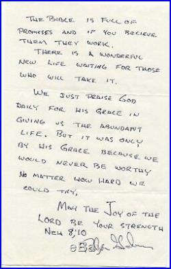 Robin Lee Graham Signed Handwritten Letter Autographed Sailor Signature
