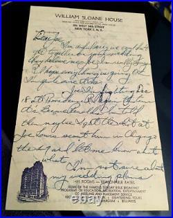 Rocky Marciano autograph handwritten Letter historical Joe Louis fight content