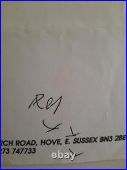 Ron and Reg Kray both Hand written on the same letter Full Provenance COA