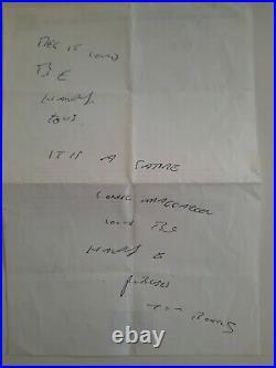 Ronnie and Reg Kray both Hand written on the same letter! Full Provenance COA