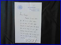 Royal Air Force John Slessor Hand Written 2 Page Letter Todd Mueller COA