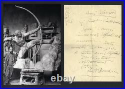 SCULPTOR Antoine Bourdelle autograph, handwritten letter signed