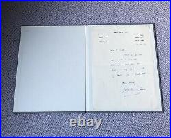 SIGNED John Le Carre letter. Hand written. VERY RARE
