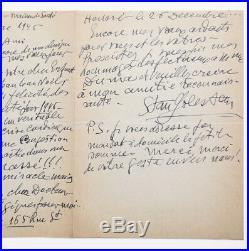STAN GOLESTAN french & rumanian composer 1945 HANDWRITTEN AUTOGRAPH LETTER