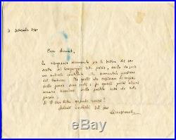 Salvatore Quasimodo NOBEL PRIZE autograph, handwritten letter signed