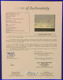 Sam Snead Golf Great Handwritten & Signed Autographed Letter Greenbrier JSA LOA