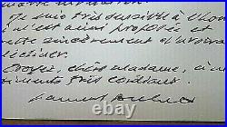 Samuel Beckett Nobel Prize winner, autograph signed handwritten card letter 1984
