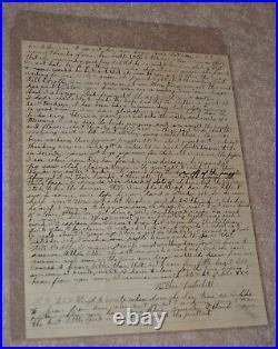 Scarce! Outlaw Handwritten Letter Wilbur Underhill Jr. (1901-1934) Killed Fbi