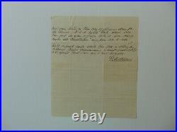 Second Bishop of New Jersey. George Washington Doane Hand Written Letter COA