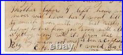 Silver City Nevada Comstock Lode Mining Town Antique Handwritten Letter 1863