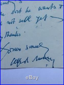 Sir Alfred Munnings. Autograph. Handwritten letter. AFTAL DEALER