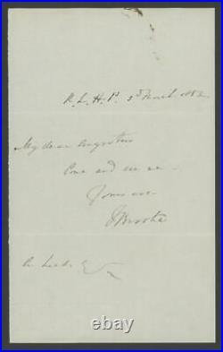 Sir James Brooke (1803-1868) signed handwritten letter Rajah Sarawak autograph