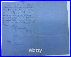 Sir John A. MacDonald Hand Written and Signed Letter from 1856