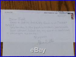 Steve Ditko Signed Handwritten Letter