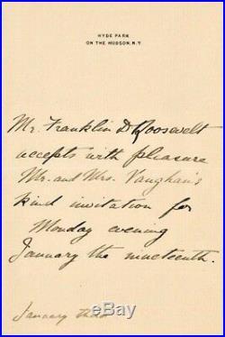 Superb, Franklin D. Roosevelt Handwritten Letter & Signed, Personal Stationery