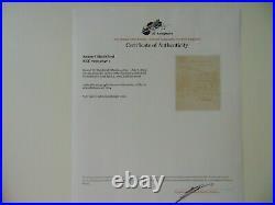 Supreme Court Justice Samuel Blatchford Hand Written Letter JG Autographs COA