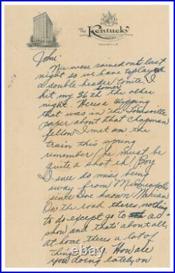 Ted Williams handwritten 1938 Letter Vintage Baseball Autograph Signature PSA