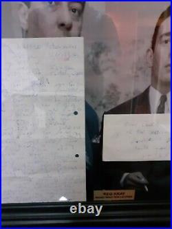 The Kray Reg Kray Signed Hand Written Letter Rare London Gangster