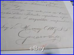 The National Palace, Managua, November 13th 1899 (Handwritten Letter)
