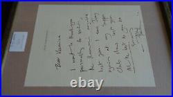 The Who Pete Townshend Autograph & Handwritten Letter Regarding Joey Ramone
