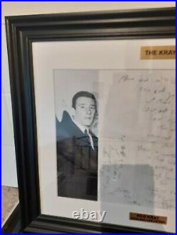 The krays memorabilia Reg Kray Autograph Signed Hand Written Letter Original