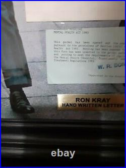 The krays memorabilia Ron Kray Hand Written Letter Signed Autograph London