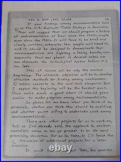Theodore'Ted' Kaczynski, aka The Unabomber, Hand Written/Hand Signed Letter