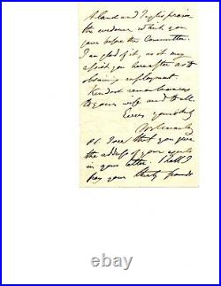 Thomas Babington Macaulay Handwritten Letter Signed July 15, 1842