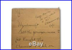 Thomas Edison +1 Hand Written & Dual Signed Letter Jsa Coa Autograph Cut Check