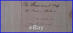 Thomas Jefferson Authentic Signed Th J Handwritten Letter As President Coa