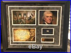 Thomas Jefferson Custom Framed Hand Written Word From Letter. JSA LOA