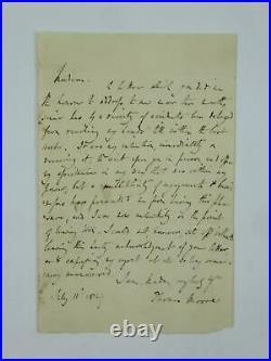 Thomas Moore SIGNED Autographed 1829 Hand Written Letter Irish Poet JSA COA